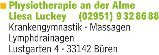 Luckey Liesa · Physiotherapie an der Alme
